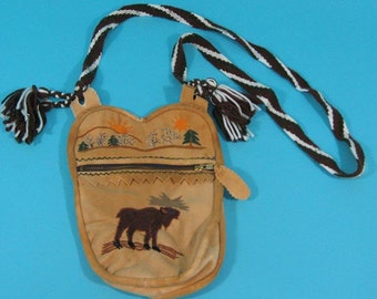 Cree Smoked Moosehide Bag (1114-G01)