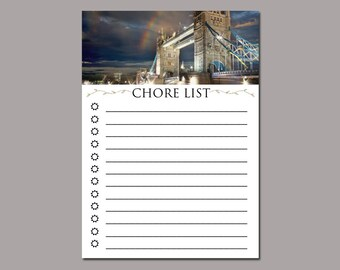 5x7 Downloadable Chore List Stationary / Whimsical Fine Art Photography / Chore List Sheets / Set of 5 / Printable