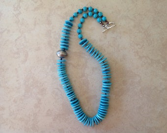 Turquoise Blue Magnesite Necklace