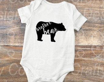 brother bear- sister bear- bear family-bear shirts-sibling outfit-matching shirts