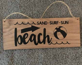 Sand Surf Beach Wall Hanging