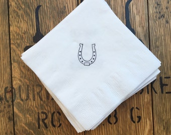 Horseshoe Napkins / Kentucky Derby Party / Western Party / Set of 50