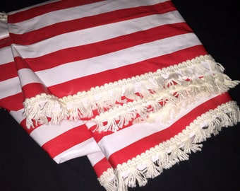 Vintage Striped Fitted Table Runner