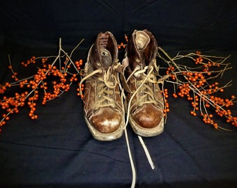 Vintage Ski Boots Shoes, Size 11