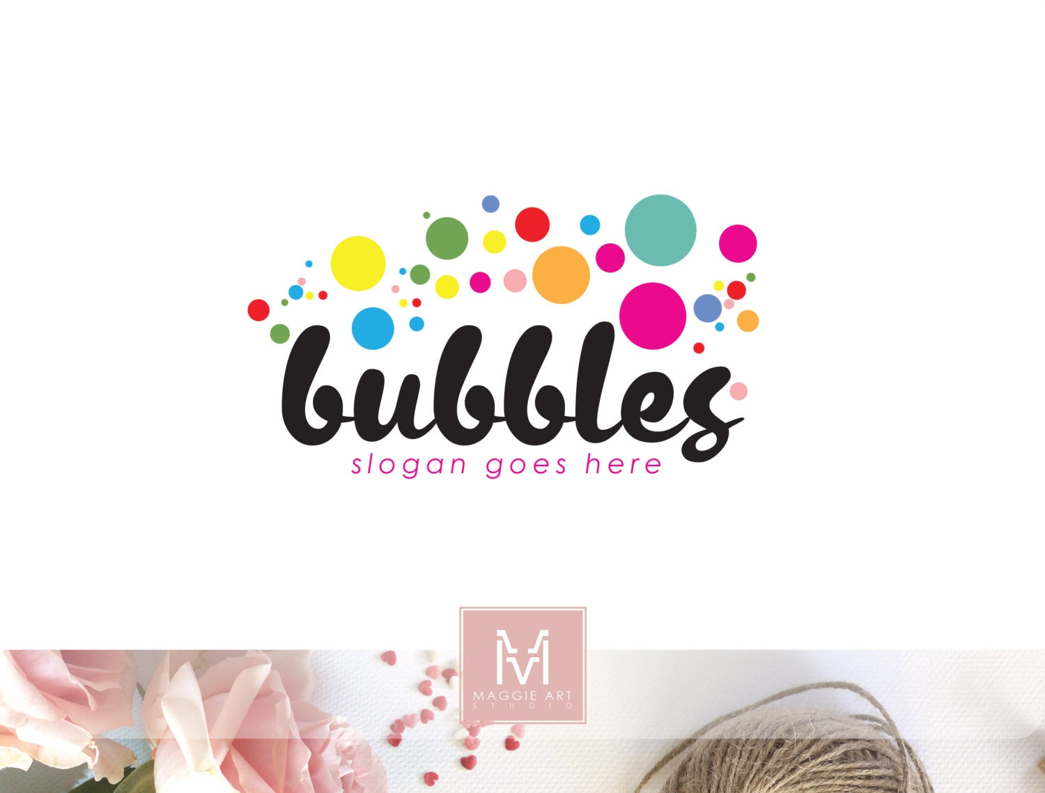 bubbles logo soap logo sweets logo children logo party