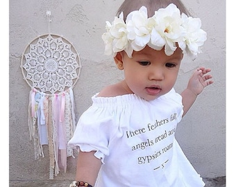 Ivory flower crown / baby flower crown / boho chic / trendy / flower crown / mommy and me / bridesmaid / flower girl / flowers / offwhite/