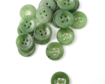 Canadian Nephrite Jade Button, 14.5mm