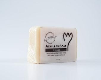 100% Greek Organic Olive Oil Soap - Orange Soap - Natural Soap - Handmade Cold Process Soap