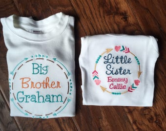 Big Brother Little Sister - Big Brother Shirt - Big Brother Announcement Shirt - Big Brother Little Brother