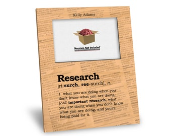 Research Definition Picture Frame - Personalization Available - 8x10 Frame - 4x6 Picture - Choice of Finish