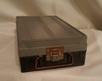 Photo slide plastic container