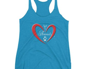 Heart of Love for Animals - Women's tank top