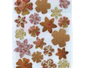 Shapeforming A4 deco flowers Brown precut - SLSH67