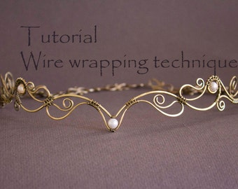 Wire Wrap Tutorial, Tiara tutorial, Wire Wrapped Diadem