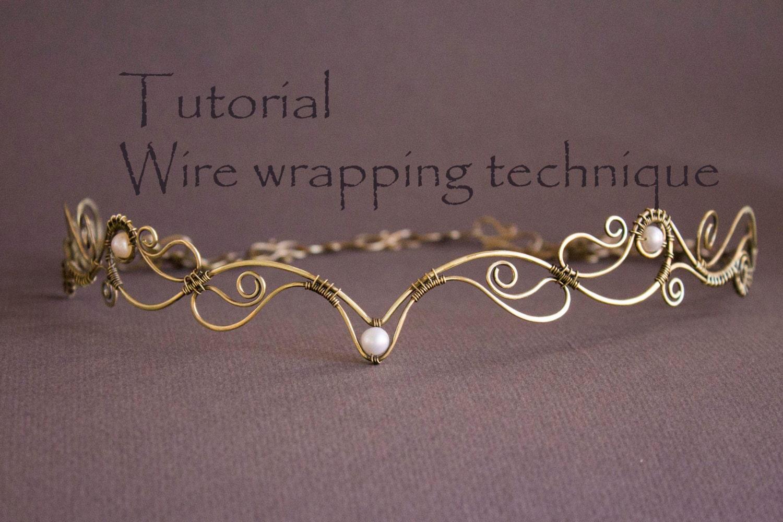 Wire wrap tutorial tiara tutorial wire wrapped diadem zoom baditri Images
