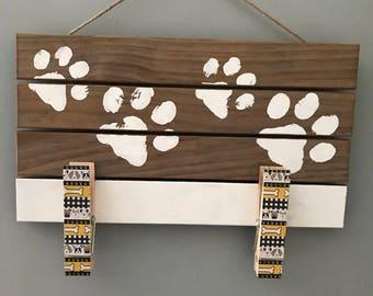Wood Panel Leash Holder