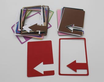 Arrow frame + arrow card: set of die - cut embellishment scrapbooking cardstock paper cutouts
