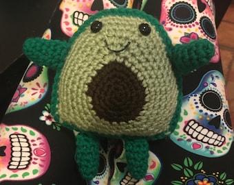 Crochet avocado buddy