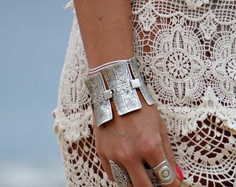 Decima Silver Bracelet boho Bracelet Beach Bracelet