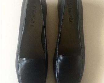 VTG ST John's bay Flat loafers comfy navy shoes Sz 7M