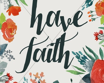 Instant Download Floral Bible Verse