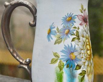 Floral bouquet ornate mug