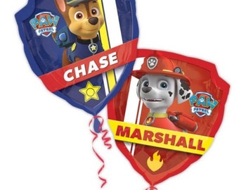 Large double sided paw patrol Foil Helium Balloon