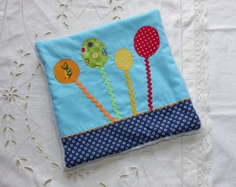 Flat plush patterned colored balloons