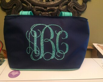 Insulated Lunch Bag-Tote-personalized-monogrammed-girls-women-school-work