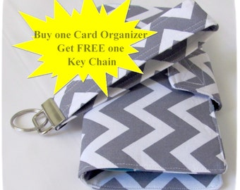 Credit Card Organizer Wallet Free Wristlet Key Chain, Gift Card Holder, Card Organizer, womens wallet 38 Credit Card Organizer Made to Order