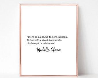Michelle Obama Quote Print - DIGITAL DOWNLOAD - Michelle Obama Printable Wall Art - Barack Obama - Feminist Quote Print - Michelle 2020