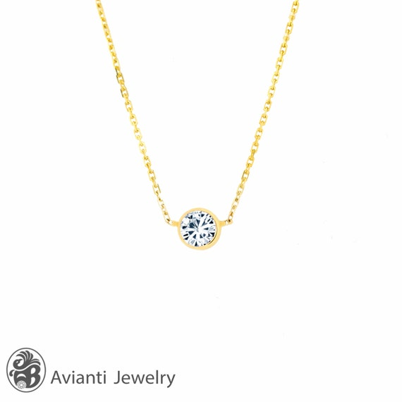pendant round classic forever necklace newegg product moissanite com