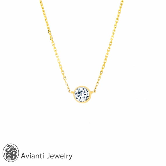 products kt p solitaire cable premier moissanite chain gold celestial ct white pendant necklace