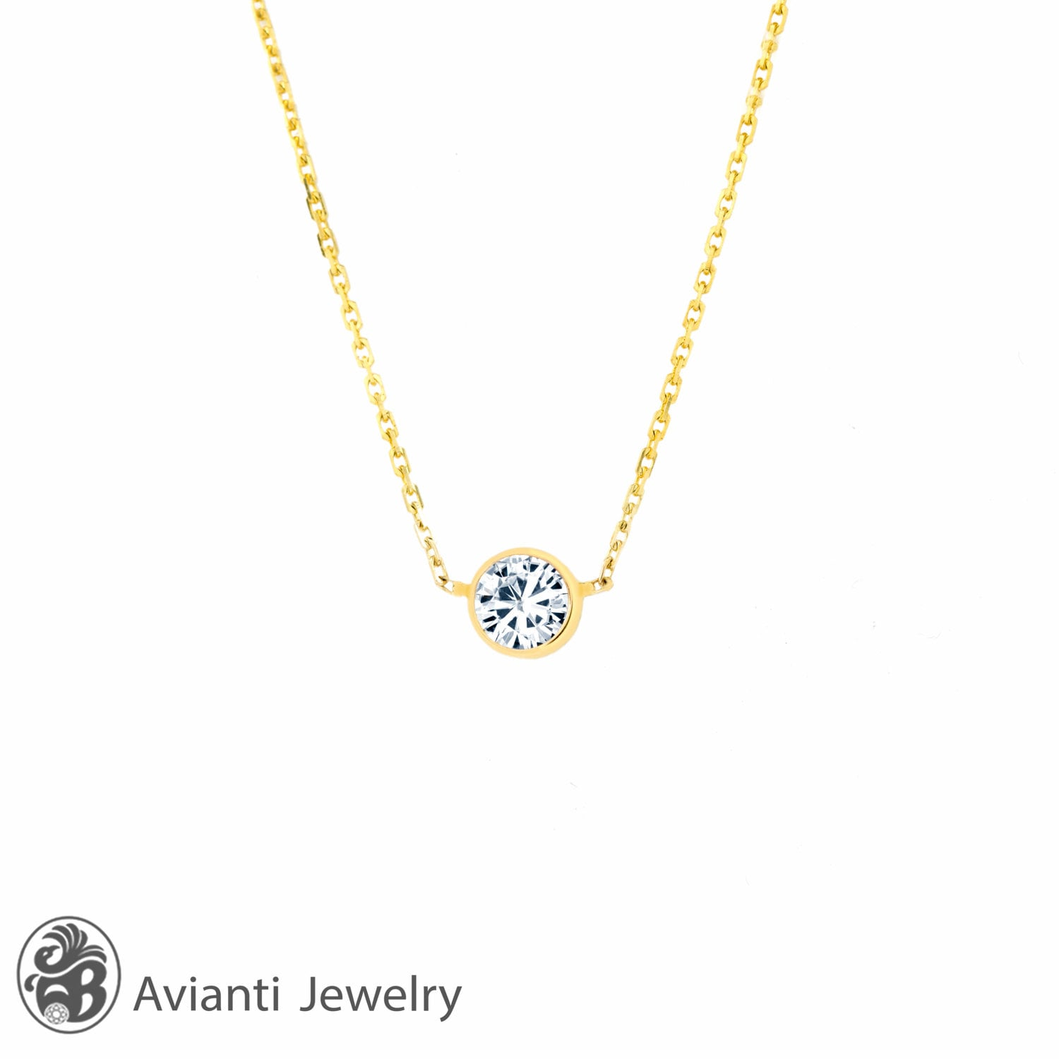 oval mo necklace rose jewelry moissanite pid gold lady halo pendant diamond di and