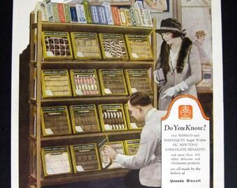 1923 NABISCO National Biscuit co ad Original vintage magazine print ad