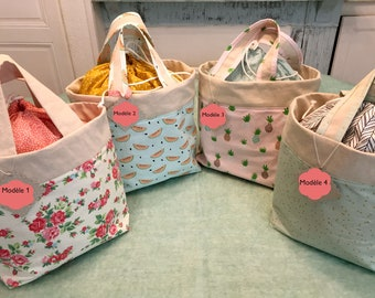 Picnic lunch Bag is handmade fabric bag