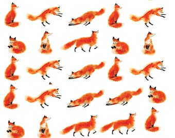 Lots of Foxes - Ceramic Waterslide Decal - Enamel Decal - Fusible Decal - 10058