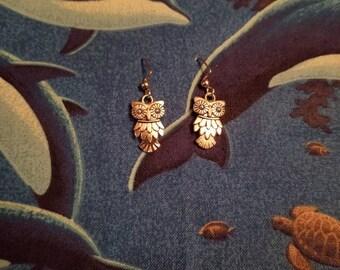 Owl Dangle Earrings