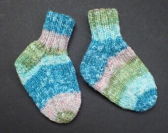 Hand-knit baby socks