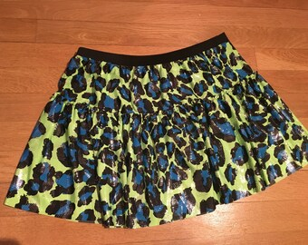 Sparkle running skirt-with spandex stretch sparkle fabric