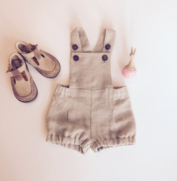 Baby Boy Overalls Linen Dungarees Baby Boy Linen Shorts Baby