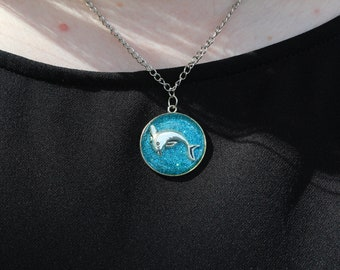 Dolphin Glitter Necklace