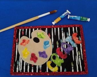 Artist Theme Mug Rug Coaster Mini Quilt
