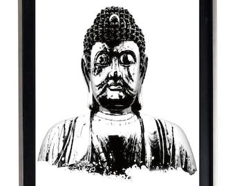 Buddha Black & White