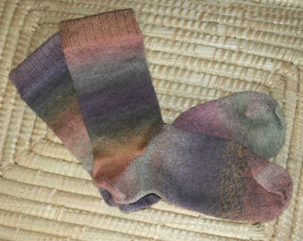 Merino Wool Socks - Handmade Wool Socks - Heathered Merino Wool Socks
