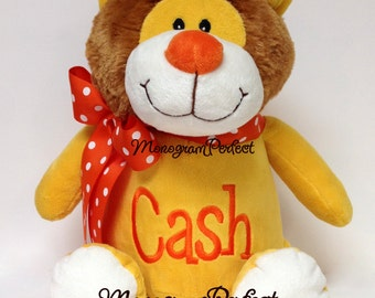Personalized Plush Golden Yellow Lion Stuffed Animal Soft Toy