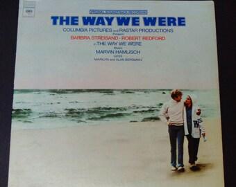 The Way We Were - Original Soundtrack Record - Barbra Streisand - Robert Redford - Marvin Hamlisch - Columbia 1974 - Vinyl LP Record Album