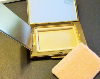 Brass Powder Compact Empty  Never Used from the  1940  472715590b2  Free Shipping in USA