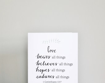 Love in all things card