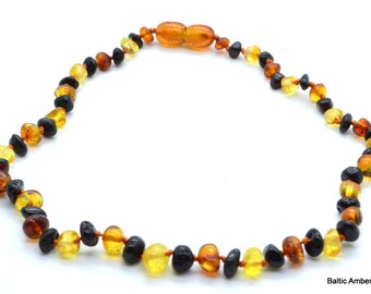 Children Natural Baltic Amber Necklace, 33 cm, 5 grams